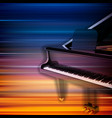 abstract blur music background with grand piano vector image vector image