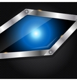 Abstract metal and glass background with frame vector image