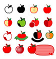 apple icon set logo design on white background vector image