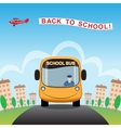Back to School cartoon background vector image vector image