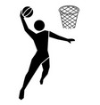 basketball sport icon vector image vector image
