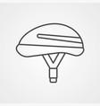 bike helmet icon sign symbol vector image vector image