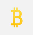 bitcoin cryptographic symbol is an isolated icon vector image