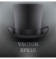 black gentleman hat cylinder background vector image vector image