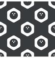 Black hexagon bowling pattern vector image vector image
