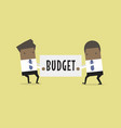 businessman are pulling the budget to each other vector image vector image