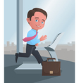 Businessman running on a treadmill vector image vector image