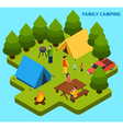 Camping And Travel Isometric Composition vector image