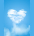 card for cloud valentines heart vector image