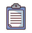 check list business document in the clipboard vector image vector image