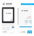cheers business logo tab app diary pvc employee vector image vector image