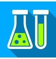 Chemistry Flat Long Shadow Square Icon vector image vector image