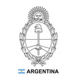 coat arms argentina vector image