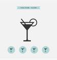 cocktail icon simple vector image vector image