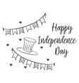 collection stock of card independence day vector image vector image