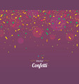 confetti colorful confetti pieces violet vector image