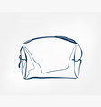 cosmetic bag line clip art isolated vector image