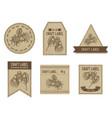 craft labels vintage design