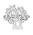 cute fairytale tree icon vector image vector image