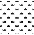 diamond crown pattern seamless vector image vector image