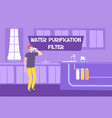 domestic water purification composition vector image vector image