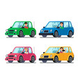 driver in car men and women drivers in cars vector image vector image