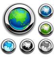 Earth buttons - Eurasia vector image vector image