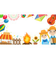 festa junina banner with space for text brazilian vector image vector image