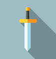 Flat sword long shadow vector image vector image