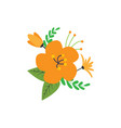 floral nature icon decorative element design vector image vector image