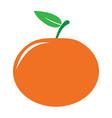 garden tangerine or mandarine icon vector image vector image