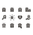 gift box icon set isolated on white vector image