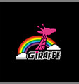 giraffe design for tshirt desi vector image vector image