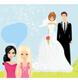 girls gossiping about the Wedding couple vector image vector image