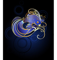 goldfish on a blue background vector image vector image