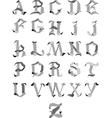 Gothic alphabet vector image vector image