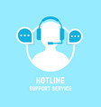 hotline with assistant manager vector image vector image