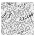 How to lease a new car Word Cloud Concept vector image vector image