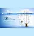 hydrating skincare cosmetics promo poster vector image vector image