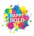 Indian festival Happy Holi colors splash vector image