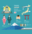 japanese map for traveling in japan design vector image