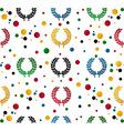 Laurel wreath pattern vector image vector image