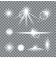 Lens flare set with transparent easy replace vector image vector image
