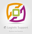Logistic support business icon vector image vector image