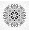 mandala highly detailed zentangle ethnic tribal vector image vector image