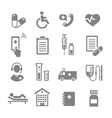 medical assistance and healthcare icons set vector image vector image