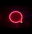 neon frame sign in shape a chat template vector image vector image