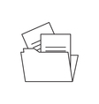 Outline document icon folder vector image
