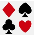 Playing card suit vector image vector image