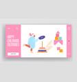 preschool development and activity website landing vector image vector image